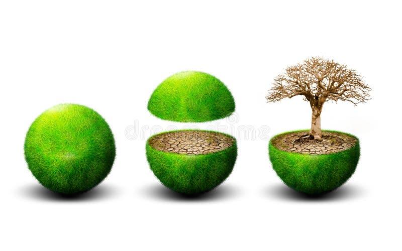 Ecologia global imagens de stock royalty free