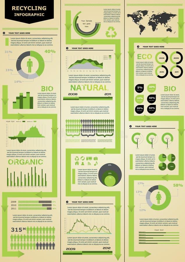 Ecologia infographic. ilustração do vetor