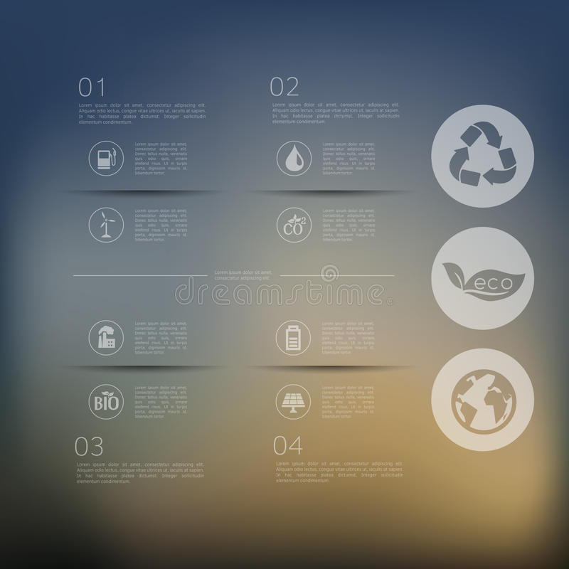 Download Ecologia Infographic Con Fondo Unfocused Illustrazione Vettoriale - Illustrazione di sfuocatura, ambientale: 56893409