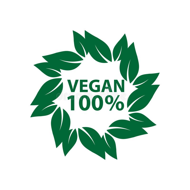 ecologia organica, logos dell'icona del vegano la bio- identifica la foglia di verde dell'etichetta illustrazione di stock