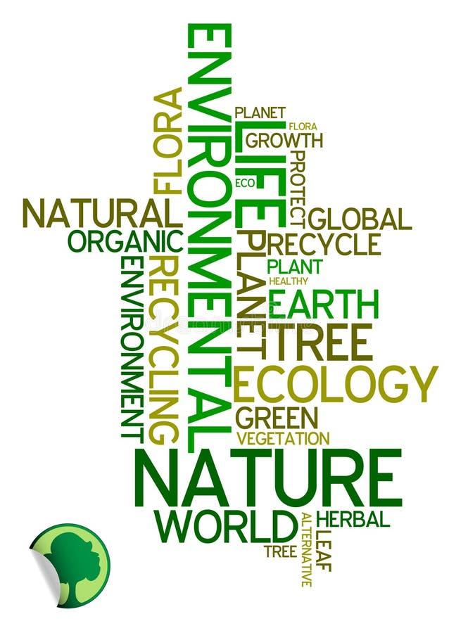 Ecologia - poster ambiental ilustração royalty free