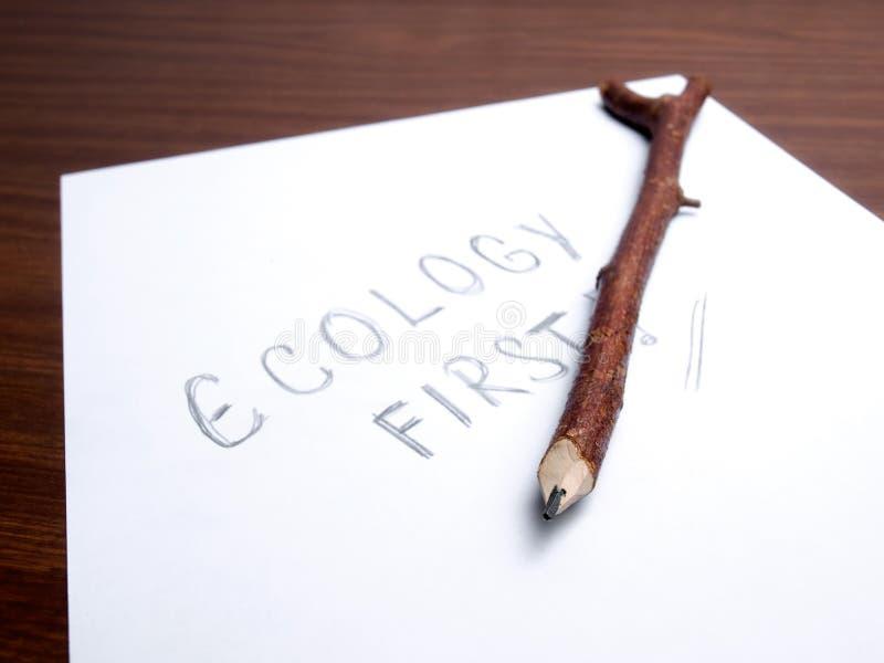 Ecologia in primo luogo immagini stock libere da diritti