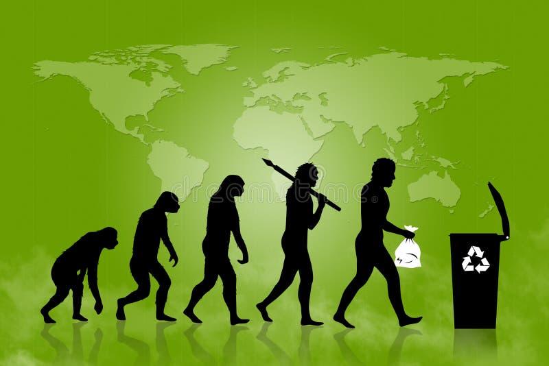 Ecologia - recicle a evolução ilustração royalty free