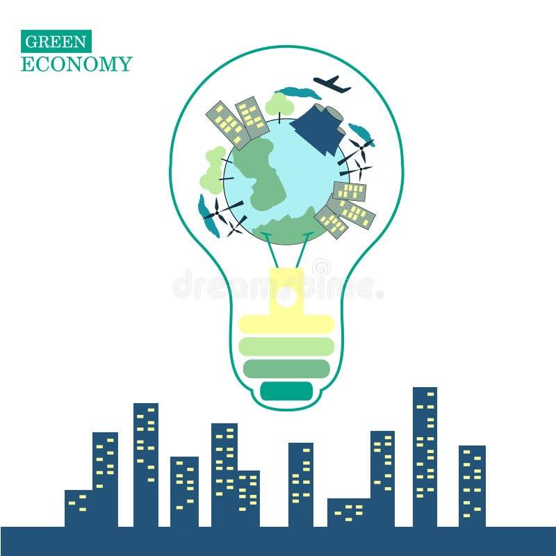 Ecologia verde imagem de stock