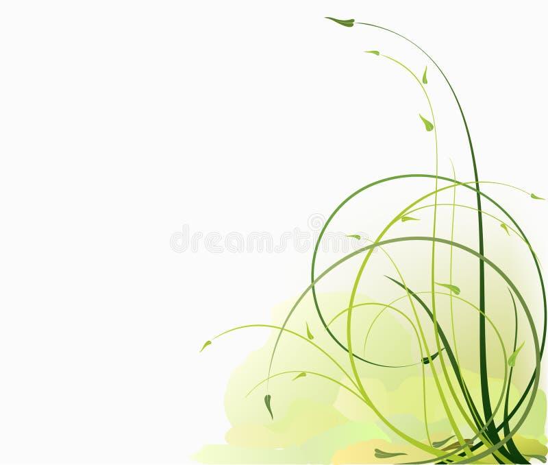 ecologic blom- för bakgrundsdesign royaltyfri illustrationer