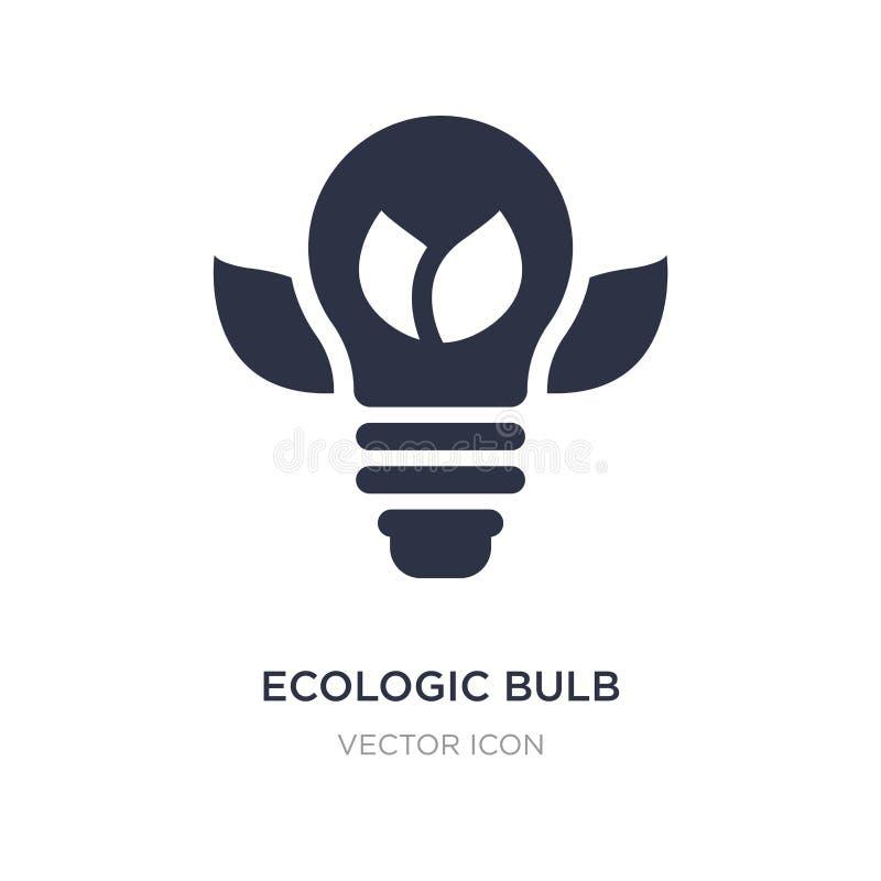 ecologic bolpictogram op witte achtergrond Eenvoudige elementenillustratie van Technologieconcept stock illustratie