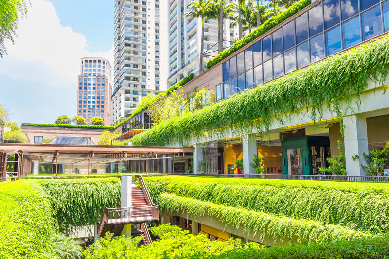 Ecologic building shopping mall in Sao Paulo royalty free stock photo