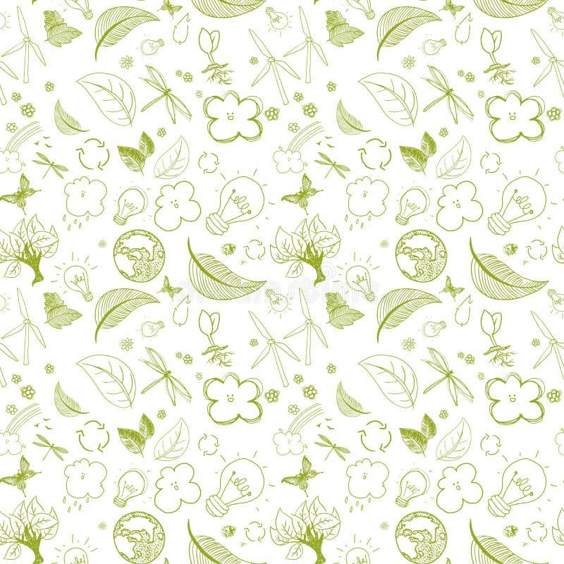 Ecologic groene krabbels stock illustratie