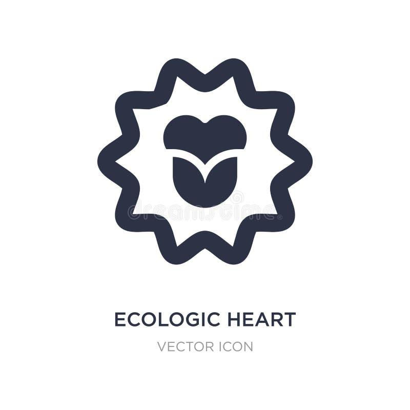 ecologic hartpictogram op witte achtergrond Eenvoudige elementenillustratie van UI-concept royalty-vrije illustratie