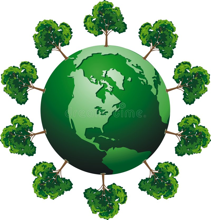 ecologic jordklot royaltyfri illustrationer