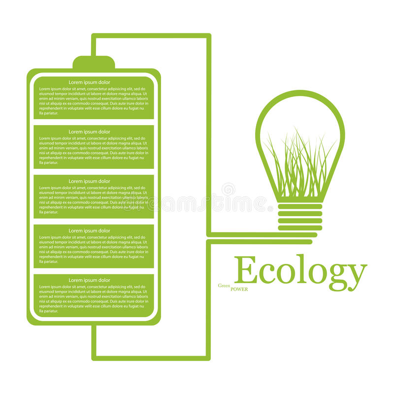 Ecologic moderne infographic. Ontwerpelementen royalty-vrije illustratie