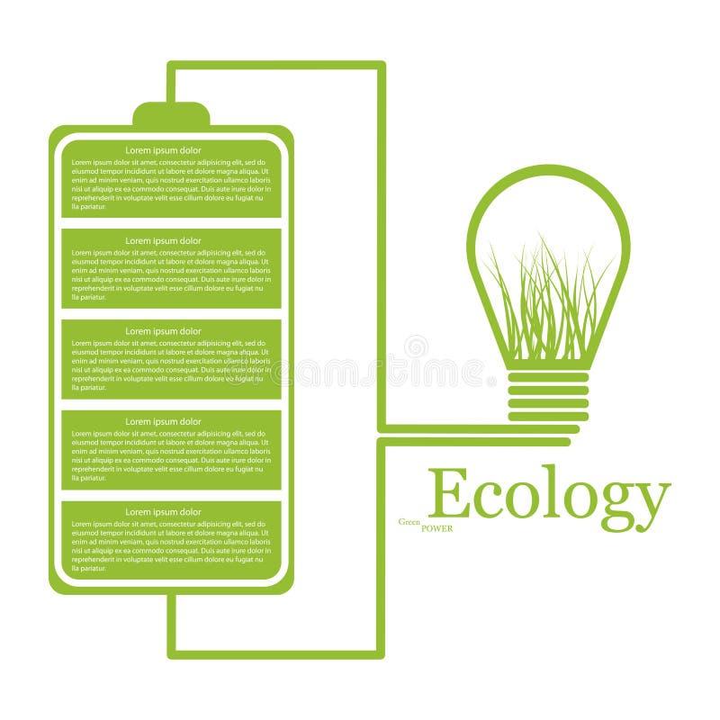 Ecologic modernt infographic. Designbeståndsdelar royaltyfri illustrationer