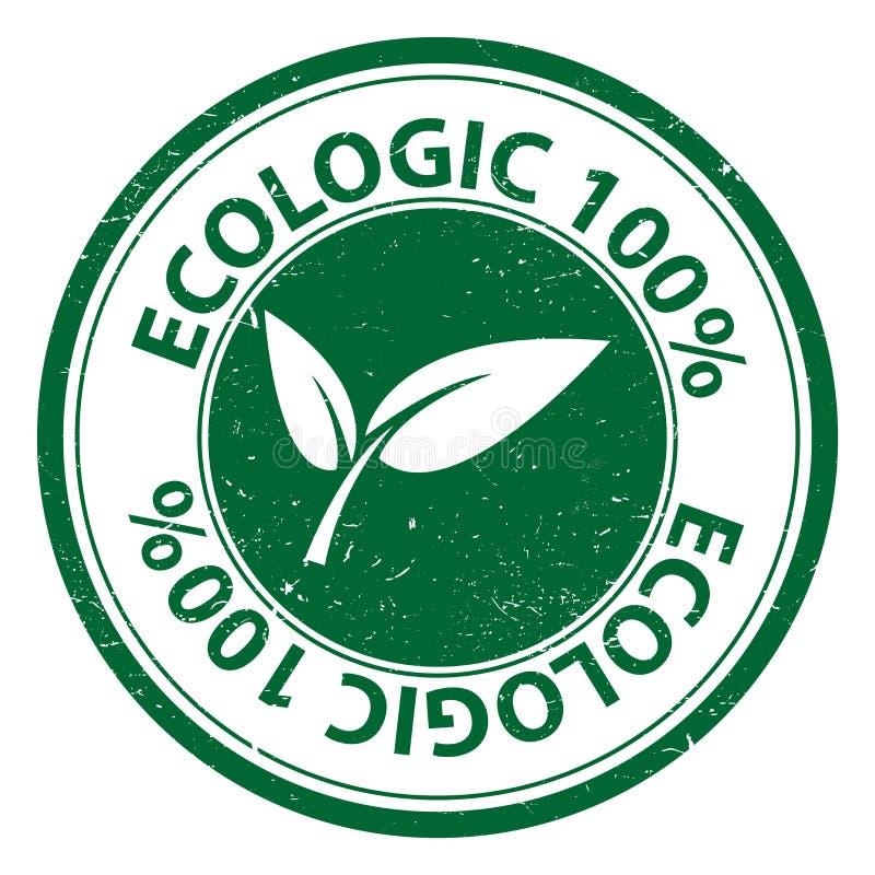 Ecologic 100 percenten vector illustratie