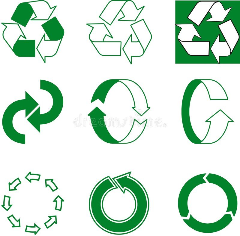 ecologic pil royaltyfri illustrationer