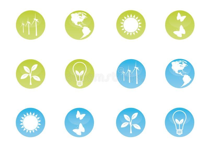 ecologic symbolsset stock illustrationer