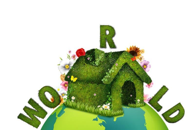 Ecologic world stock illustration