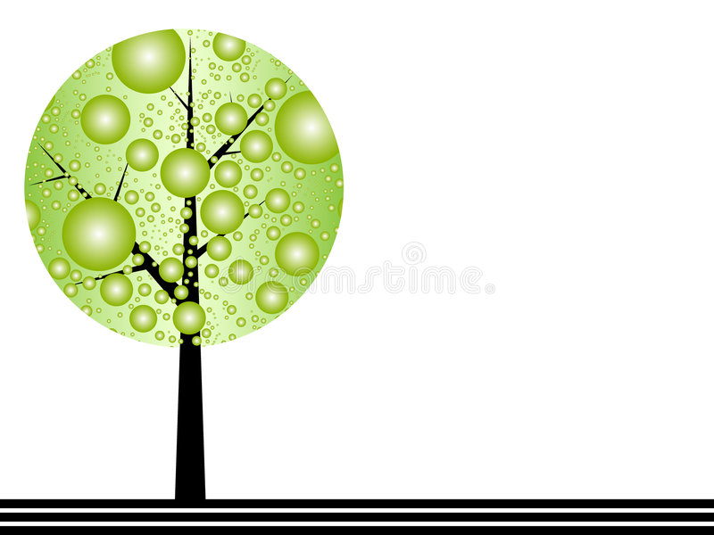 Ecological background stock illustration