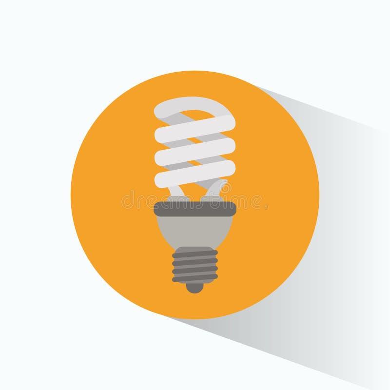 Ecological bulb light yellow circle shadow. Vector illustration eps 10 vector illustration