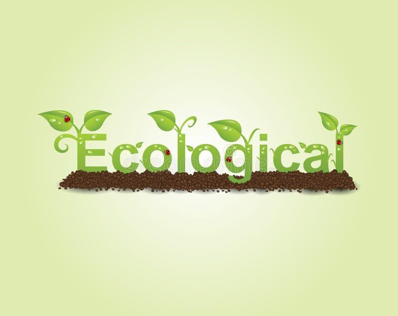 Ecological caption vector illustration