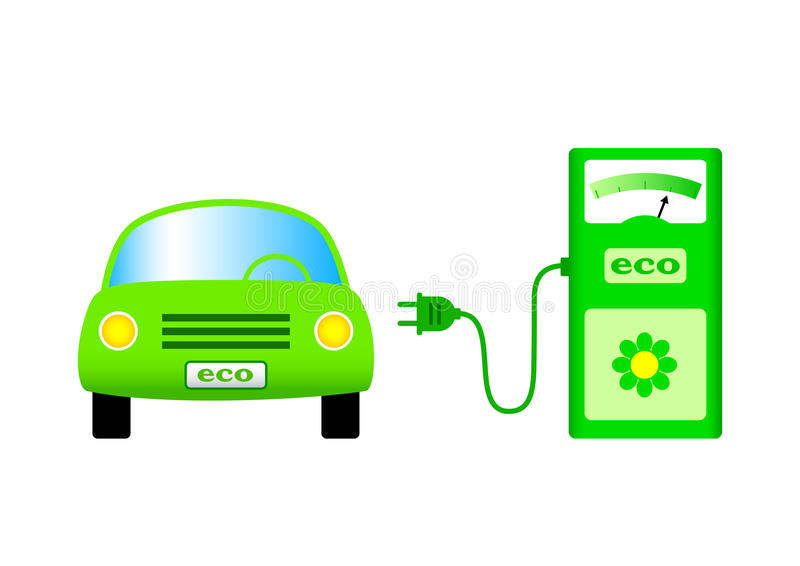 Download Ecological car stock vector. Illustration of electric - 24102670