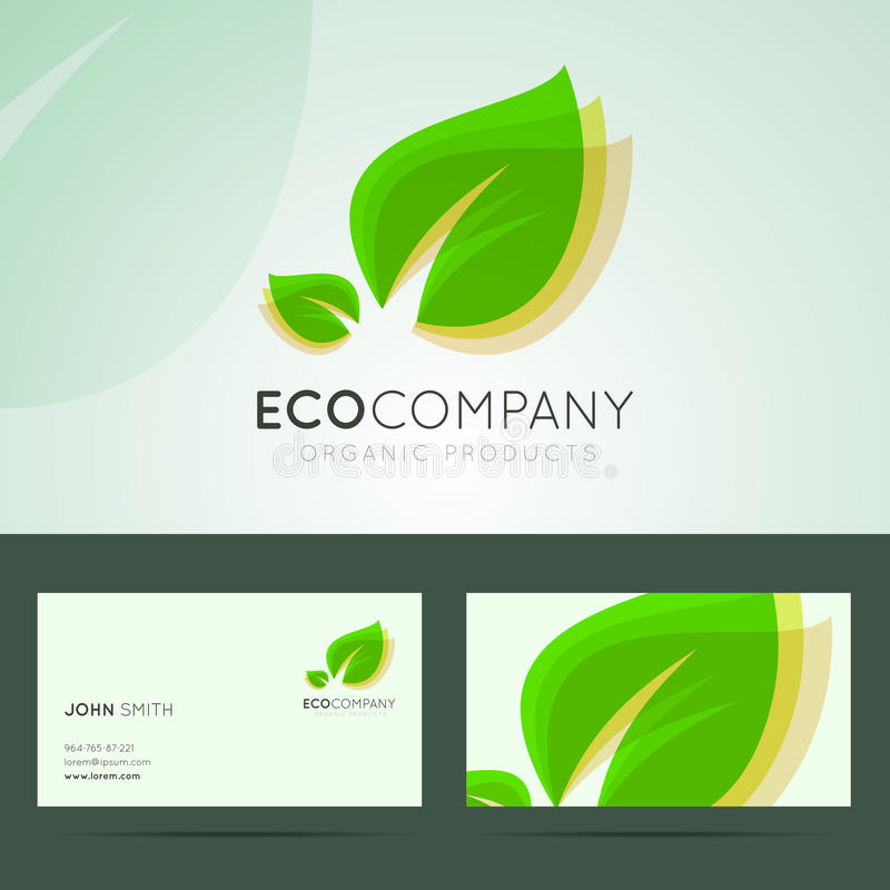 Ecological company logo design. stock illustration