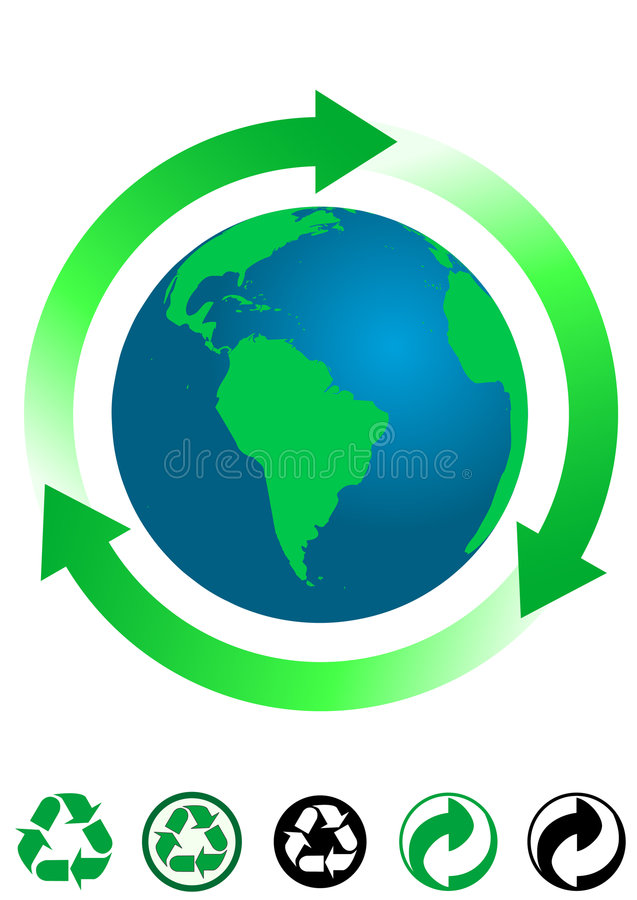 Ecological concept stock illustration