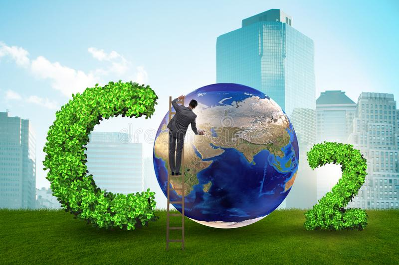The ecological concept of greenhouse gas emissions stock photos