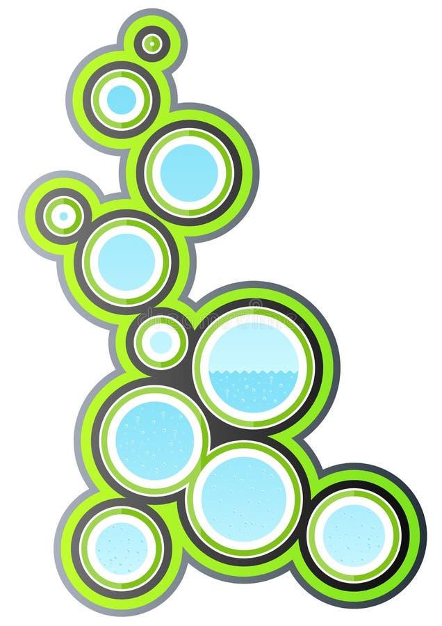 Ecological design element royalty free illustration
