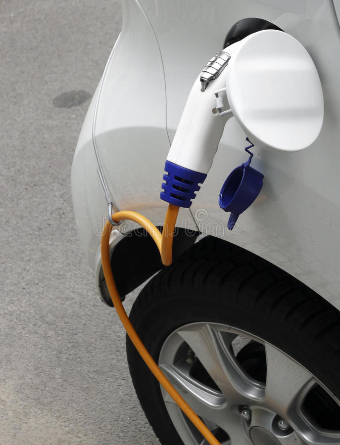 Download Ecological Electric Car stock photo. Image of cable, future - 33017708