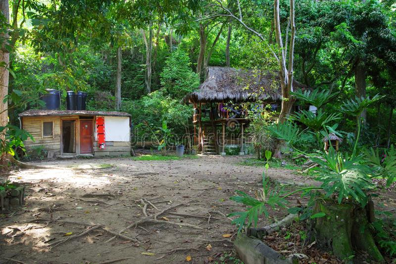 Ecological forest cottage in Minca, Sierra Nevada de Santa Marta Mountain. Minca is a charming village in the Sierra Nevada de Santa Marta, famous for its stock photography