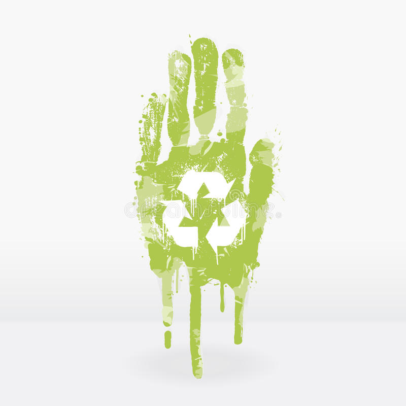 Ecological Hand Design Royalty Free Stock Photo