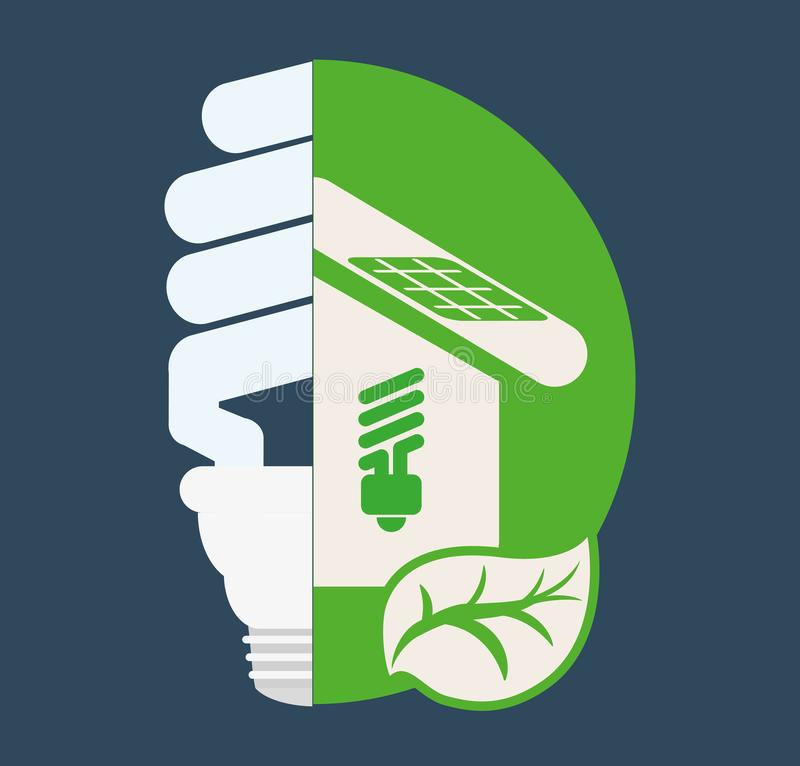 Ecological home bulb clean. Vector illustration eps 10 vector illustration