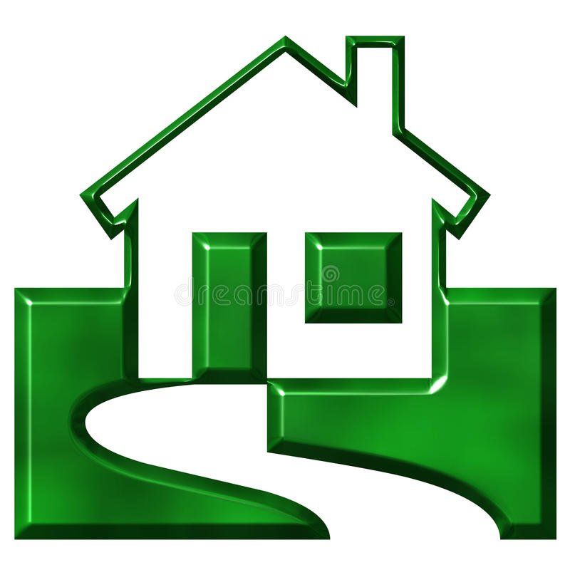 Ecological House stock illustration