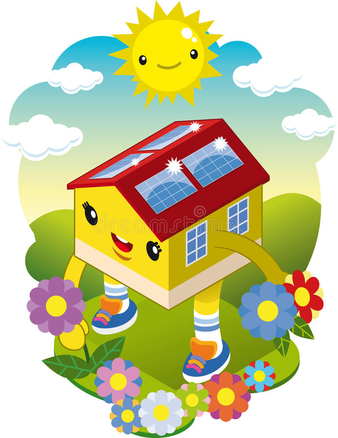 Download Ecological house stock vector. Illustration of illustration - 32183701