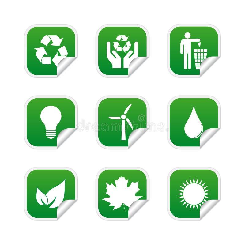 Download Ecological labels stock vector. Image of natural, internet - 25010098