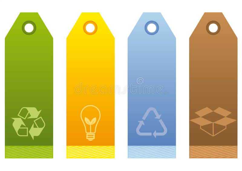 Ecological Labels royalty free stock photography