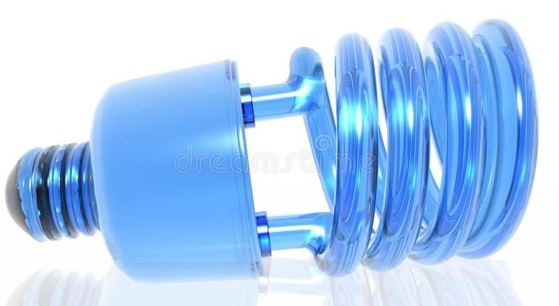 Ecological Light Bulb. Clear blue ecological light bulb royalty free illustration