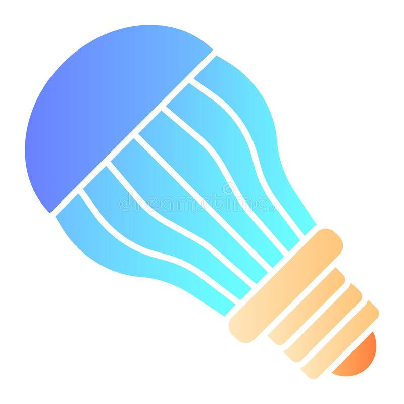 Ecological light bulb flat icon. Electric color icons in trendy flat style. Eco lamp gradient style design, designed for. Web and app. Eps 10 vector illustration