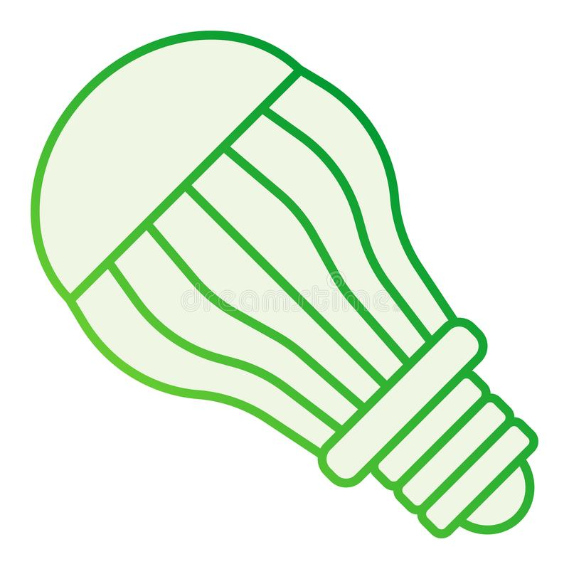 Ecological light bulb flat icon. Electric gray icons in trendy flat style. Eco lamp gradient style design, designed for. Web and app. Eps 10 stock illustration