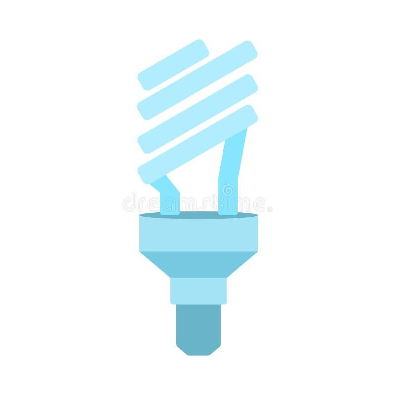 Ecological light bulb icon. Halogen lamp symbol. Ecological light bulb icon. Halogen lamp. Flat vector illustration isolated on white background stock illustration
