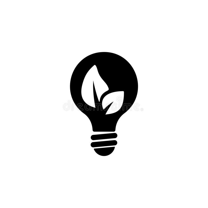 Ecological light bulb icon. Simple glyph vector of energy for UI and UX, website or mobile application. On white background vector illustration