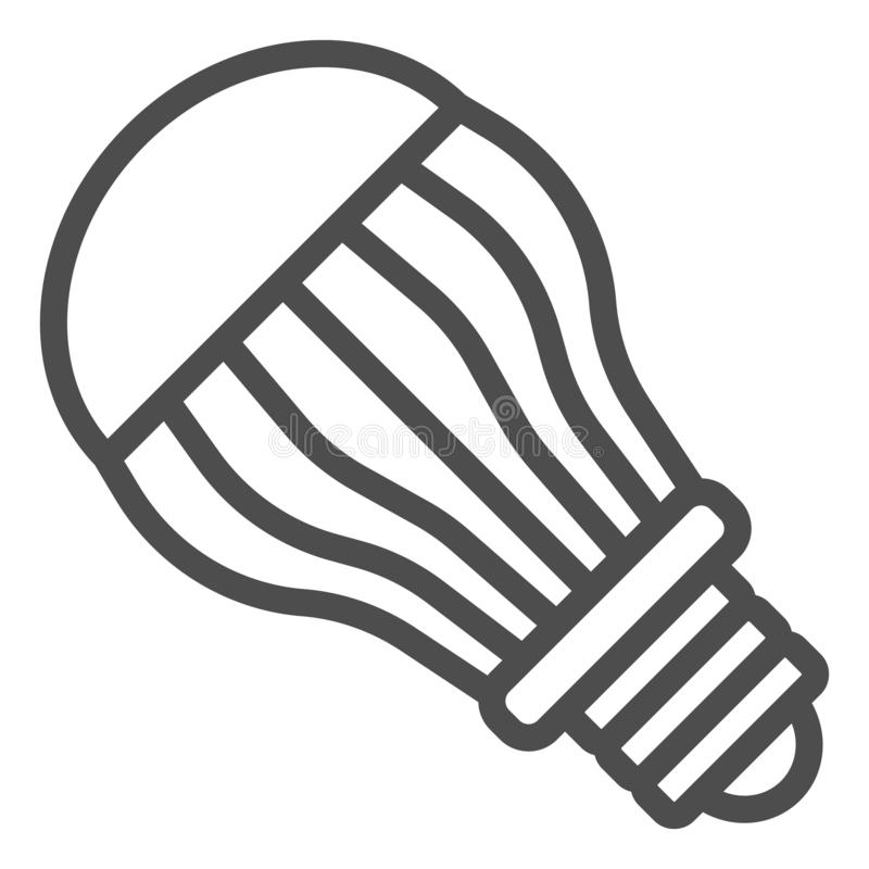 Ecological light bulb line icon. Eco lamp vector illustration isolated on white. Electric outline style design, designed. For web and app. Eps 10 royalty free illustration