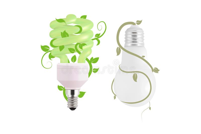 Ecological lightbulb icon in vector format eco idea design of