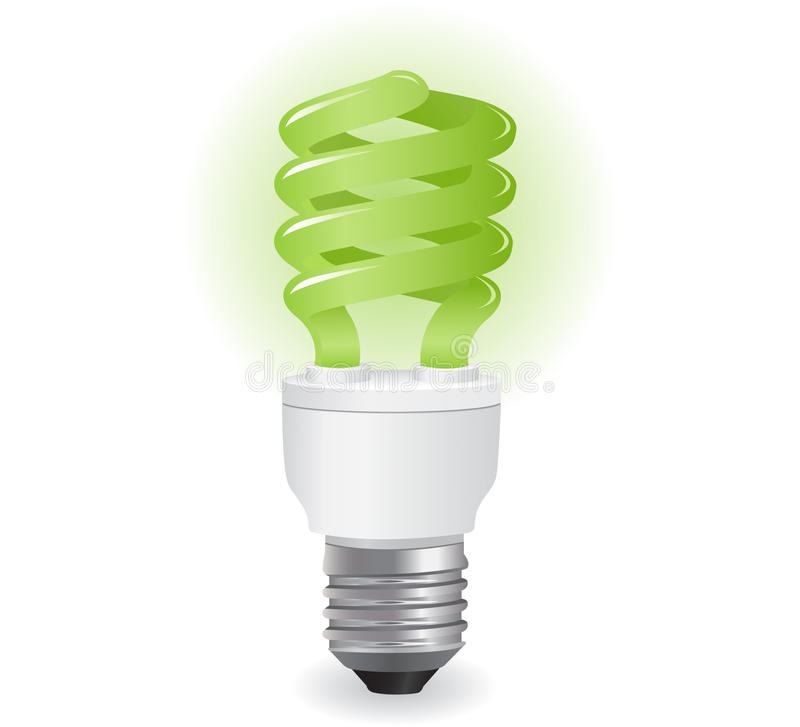 Ecological Lightbulbs Icon Royalty Free Stock Photography