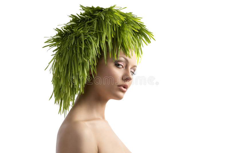Ecological portrait of beauty girl stock images