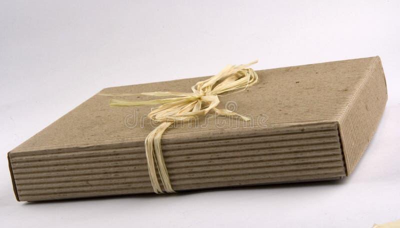 Ecological present box stock photo