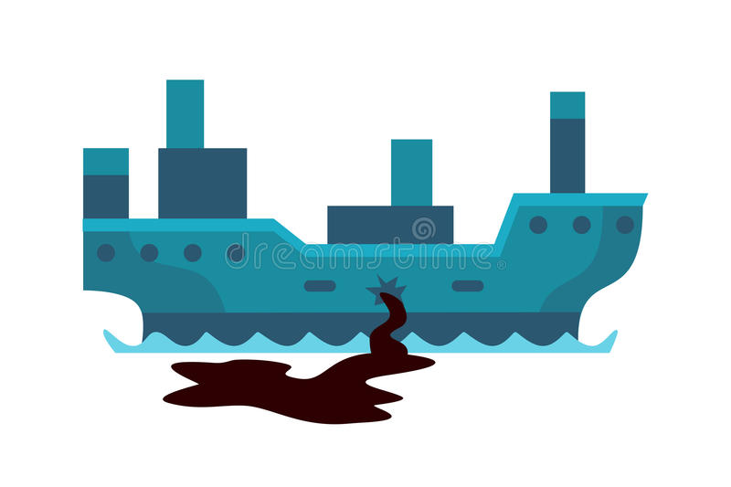 Ecological problems environmental oil pollution of water earth air deforestation destruction of animals mills factories vector illustration