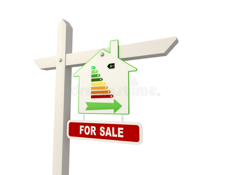Ecological Real Estate Sign Royalty Free Stock Image