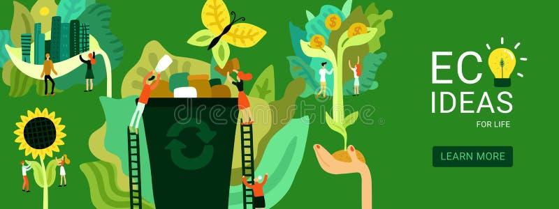 Ecological Restoration Header Illustration royalty free illustration