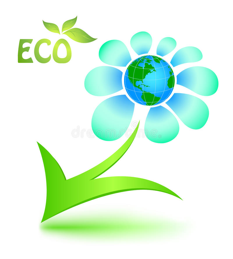 Download Ecological Symbol With Mother Earth Stock Vector - Image: 19103478